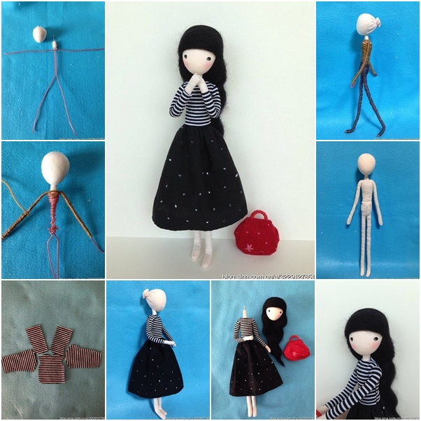 How to DIY Cute Mini Doll with Wire