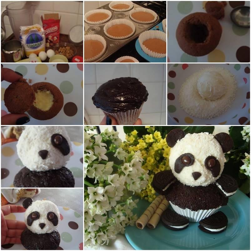 DIY Cute Panda CupCake