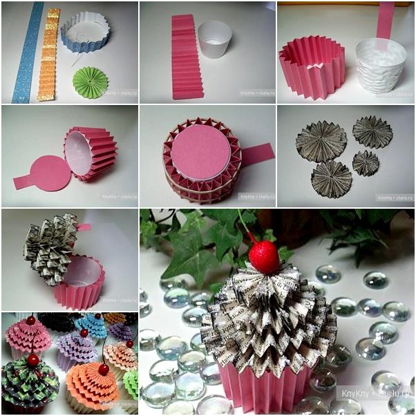 DIY Cute paper cupcake Ornament