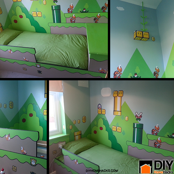 Diy mario kids bedroom ideas Diy bedroom ideas