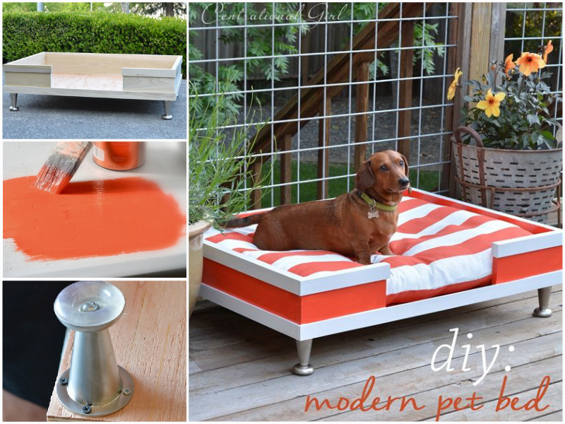 How to diy modern wood pet bed - Faire un panier pour chien ...