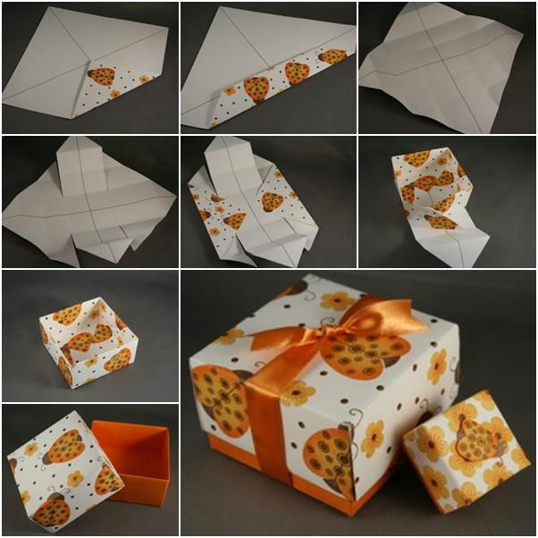 DIY Paper origami gift box