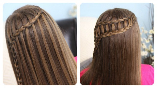 DIY Waterfall Braid Hairstyle Tutorials-Video