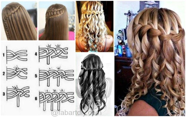 Diy Lovely Waterfall Braid Hairstyle