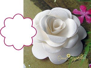 DIY paper rose from template01
