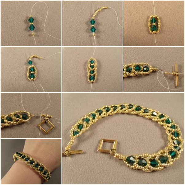 Emerald City Flat Spiral Bracelet diy