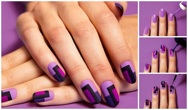 FabartDIY Chic Mod Mani Striped Nail Art