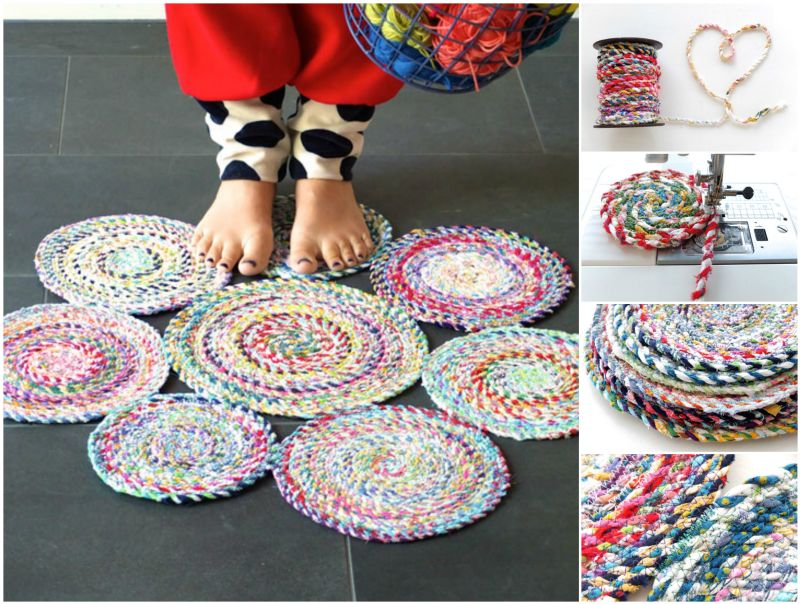 How to diy fabric twine spiral mat for Where can you get fabric