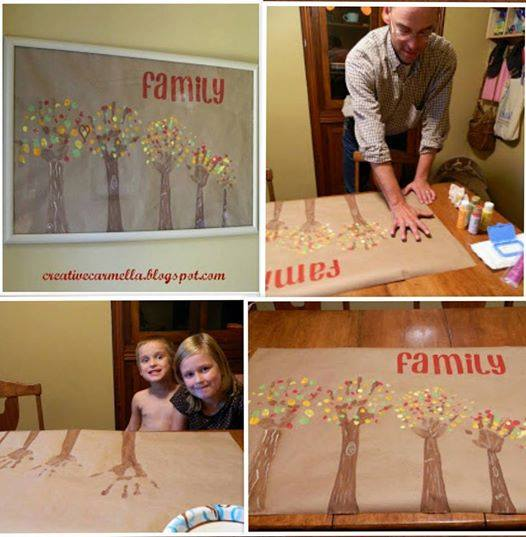 Diy Handprint Family Tree Wall Art