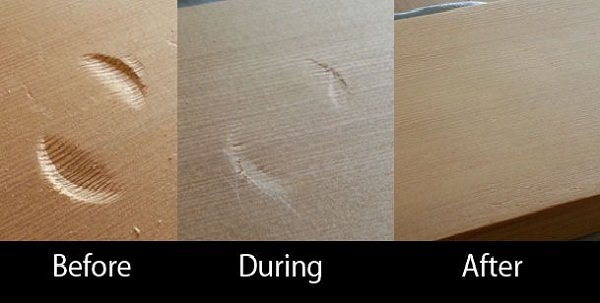 How to Remove Dent from Wood in 3 Steps