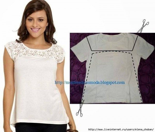 20+ Ways and Ideas to Refashion T-shirt into Chic Top