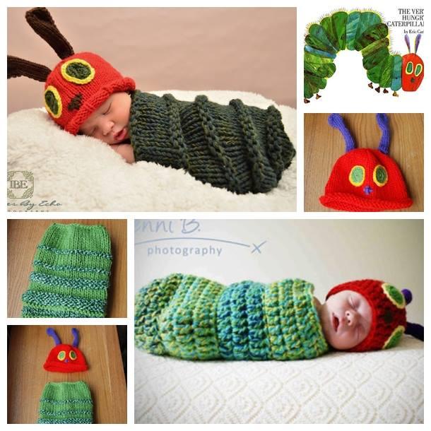 Newborn Caterpillar Hat & Cocoon