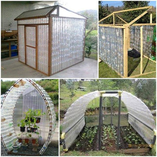 Diy recycled plastic bottle green house for Build a green home