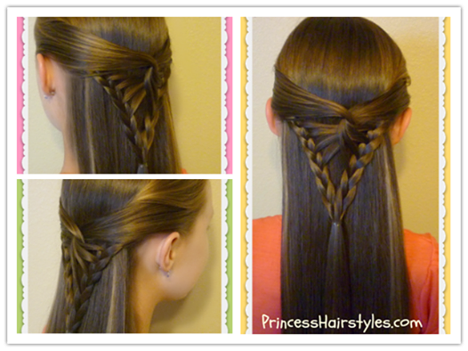 How To DIY Simple And Pretty Half Up Arrowhead Braid Hairstyle Video - Hairstyle diy video