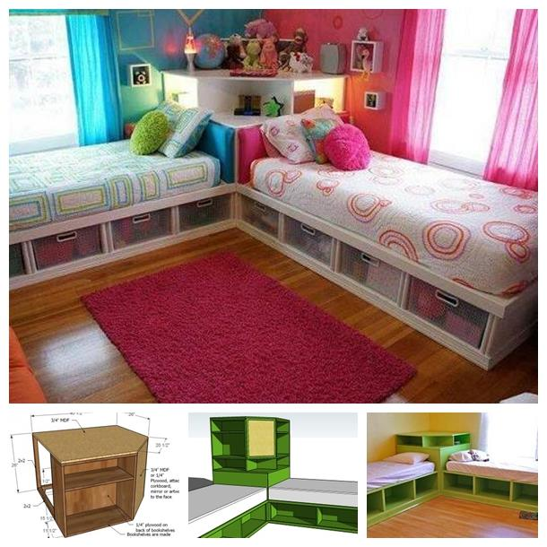 Space Saving Corner Unit For Twin Bed