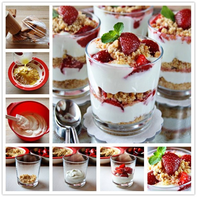 DIY Strawberry Cheesecake Parfait