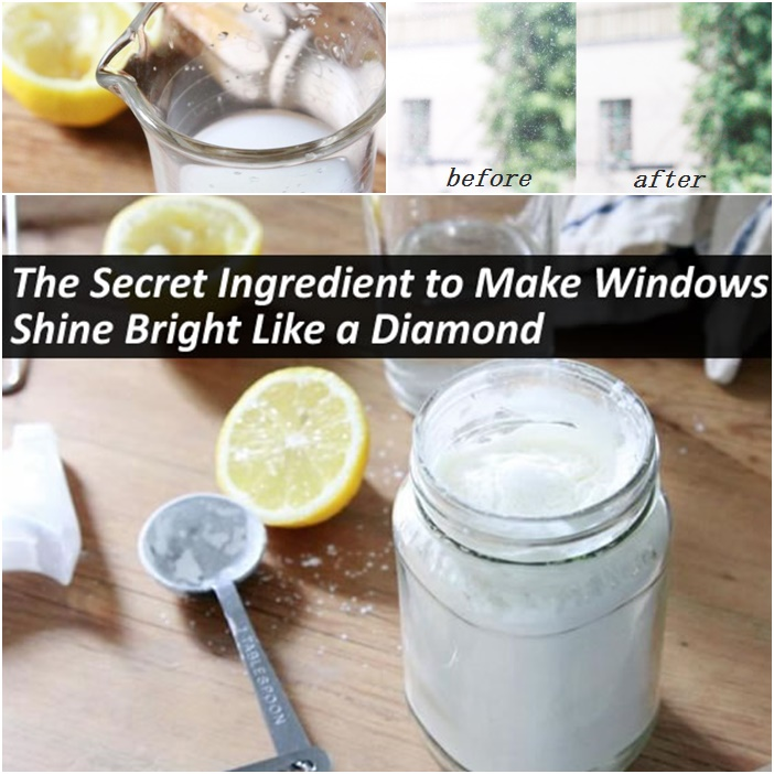 DIY Secret Homemade Ingredient to Make Windows Shine bright like a diamond