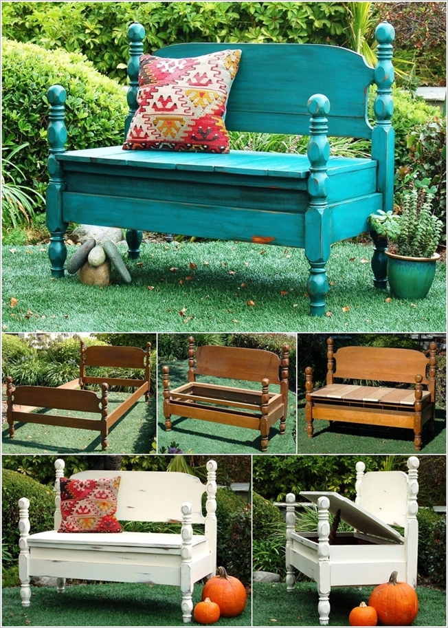 Remarkable How To Turn Beds Into Garden Bench Caraccident5 Cool Chair Designs And Ideas Caraccident5Info