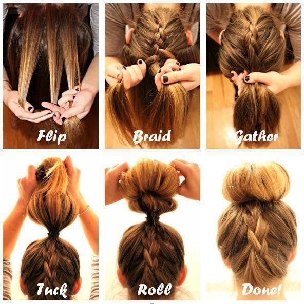 Pleasant Step By Braided Bun Hairstyles Braids Hairstyles For Women Draintrainus