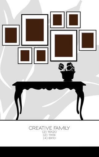25 fab ideas on photo wall display for Wall hanging picture display