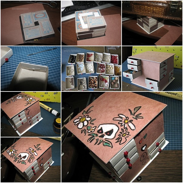 Craft Organizer From Match Box