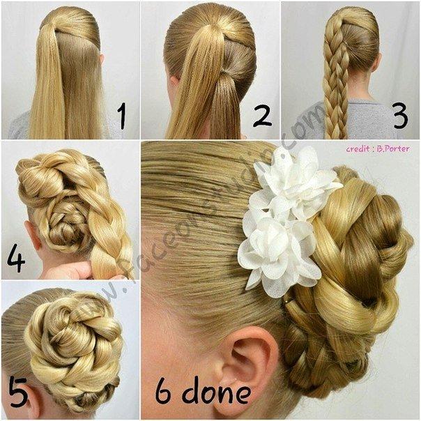double braided hairbun