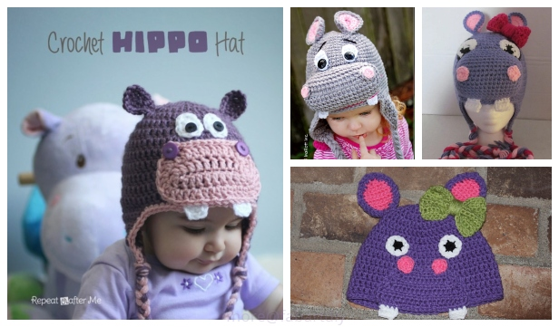 10 Cute Hippo Amigurumi Crochet Patterns Free and Paid | 361x616