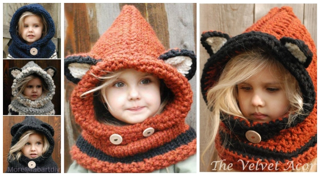 Crochet Knit Failynn Fox Cowl Crochet Patterns - Video