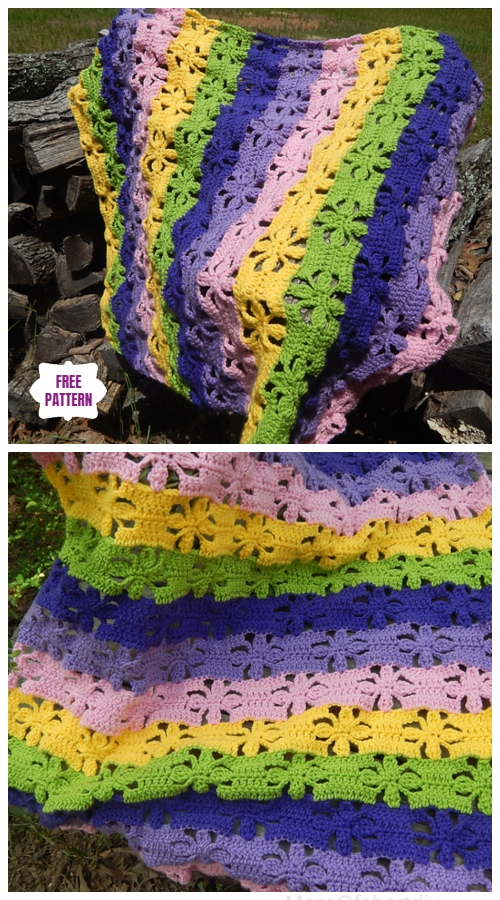 Crochet Spring Flowers Blanket Free Crochet Pattern