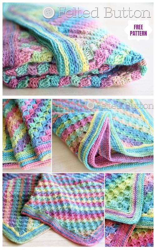 40 Diy Knit Amp Crochet Baby Blanket Free Pattern
