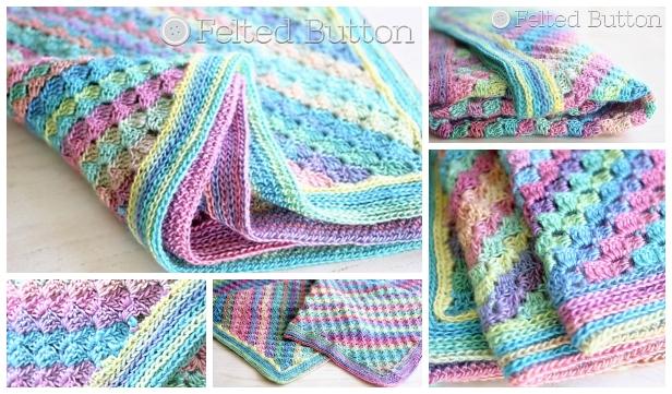 Crochet Spring to Summer Blanket Free Crochet Pattern