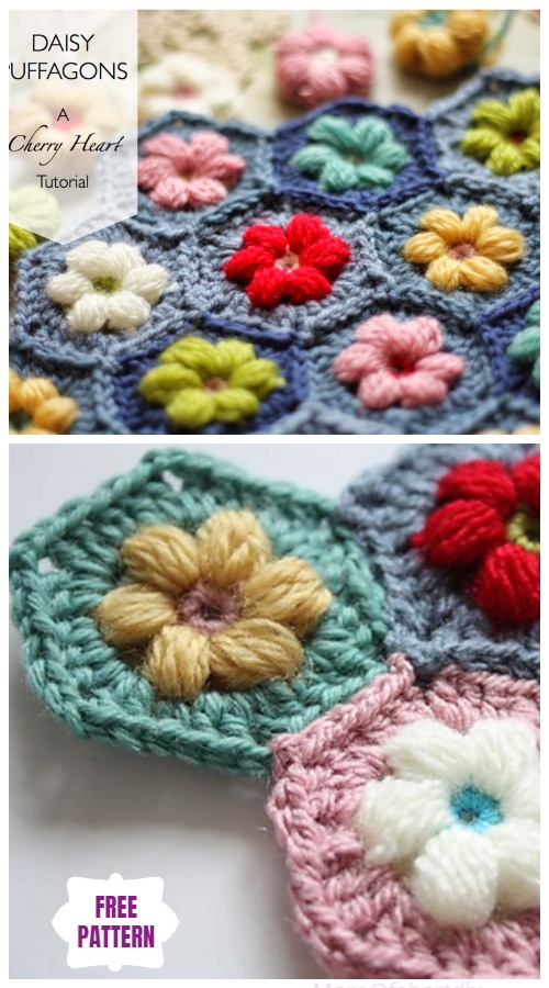DIY Crochet Puff Stitch Blanket Free Crochet Patterns