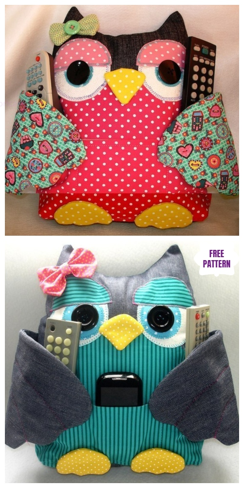 DIY Fabric Owl Pillow Free Sew Pattern