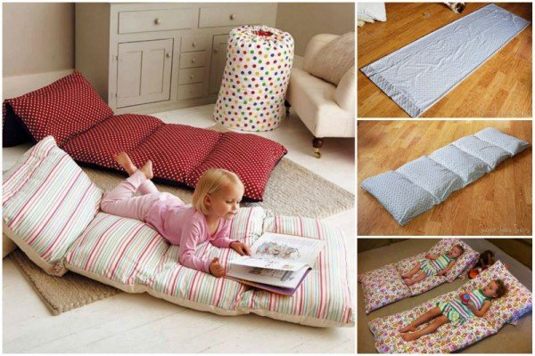 DIY Simple Roll Up Pillow Bed Tutorial – Video