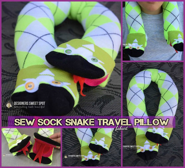 DIY Sock Snail Travel Pillow Tutorial
