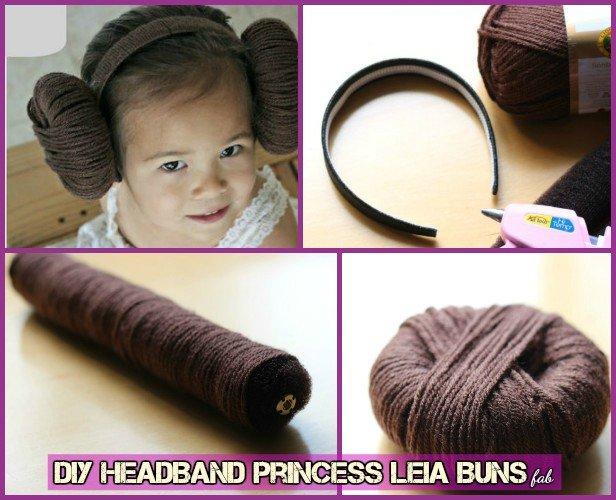 DIY Star War Headband Princess Leia Yarn Wig Tutorial
