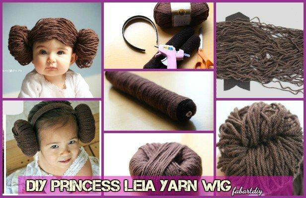 DIY Star War Princess Leia Yarn Wig