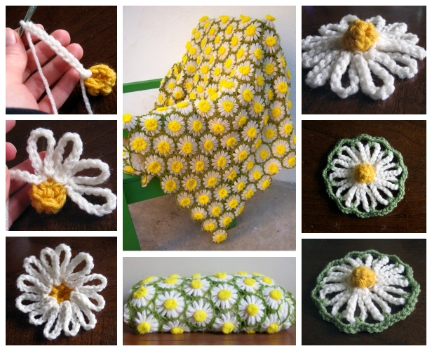 DIY Vintage Crochet Daisy Motif Blanket Free Crochet Pattern