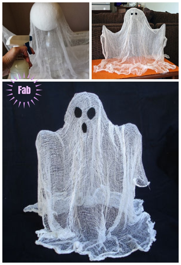 Halloween Crafts: DIY Simple Floating Ghost Out of Cheesecloth Tutorial