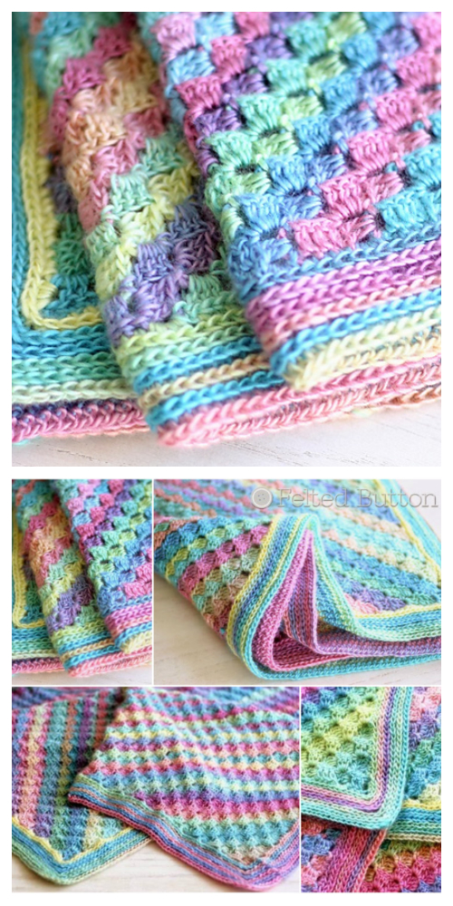 Spring to Summer Blanket Free Crochet Pattern