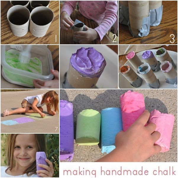 How to DIY Homemade Sidewalk Chalk