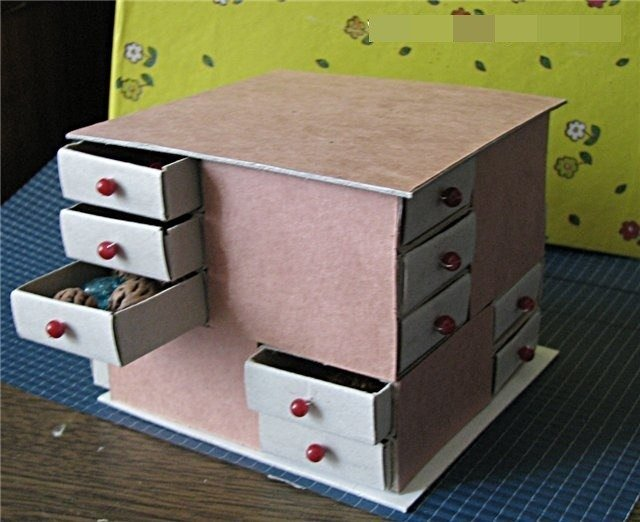 How to DIY Mini Drawer Organizer from Match Boxes Fab Art DIY