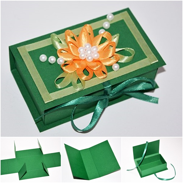 paper gift box from template