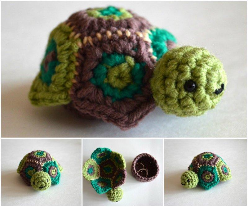 Crochet Secret Turtle Box Free Pattern