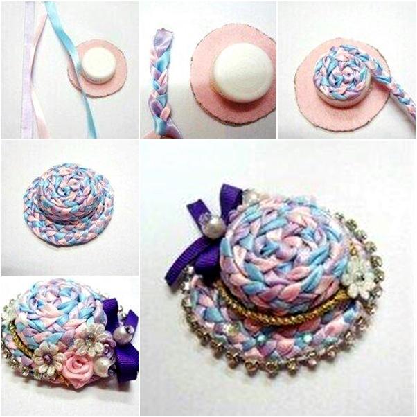 woven ribbon cap hat01