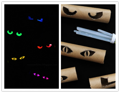 How to DIY Glowing Eyes with Paper Roll