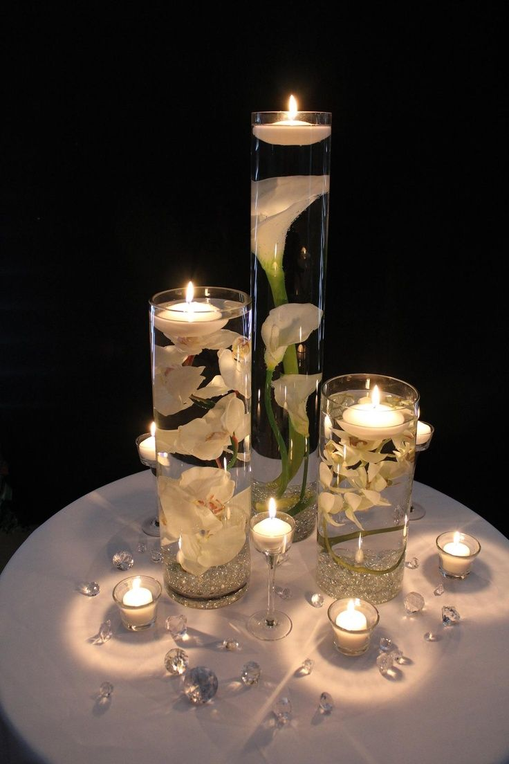 diy floating candle centerpiece ideas. Black Bedroom Furniture Sets. Home Design Ideas