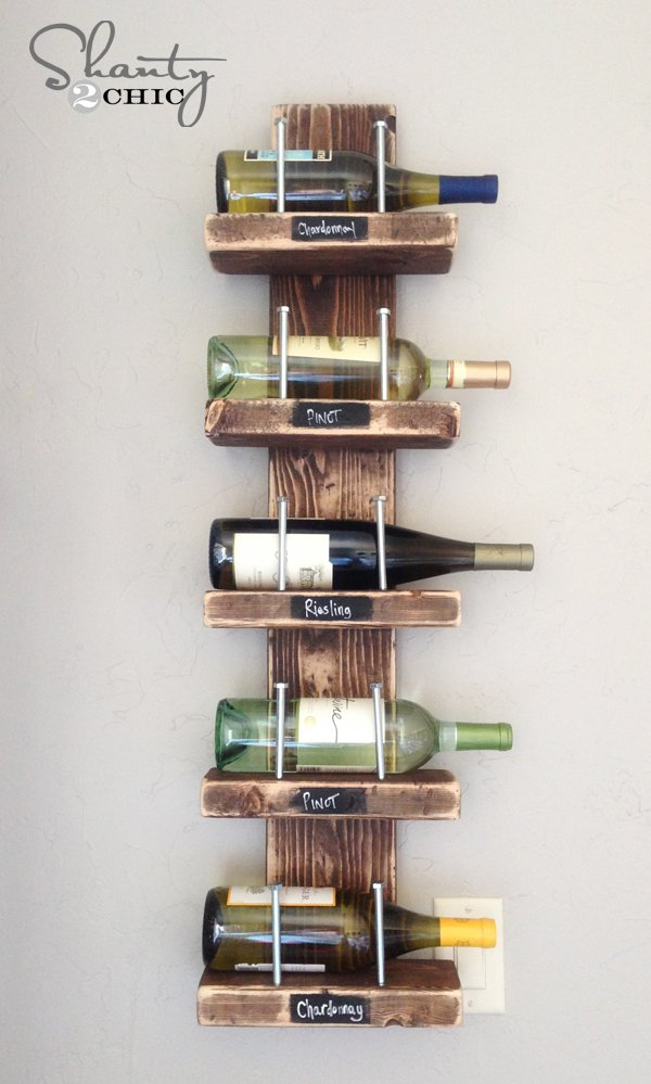 34 DIY Projects You Need To Make This Spring1 - DIY Vintage wine rack