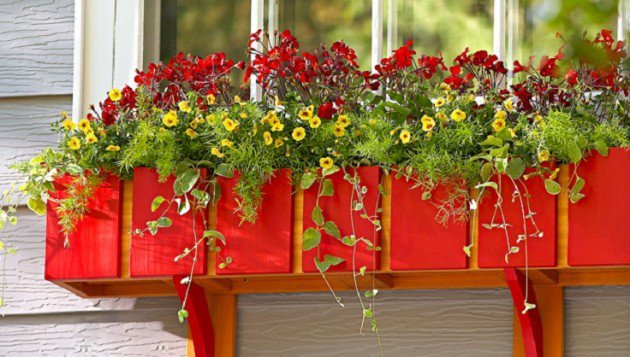 34 DIY Projects You Need To Make This Spring11- Colorful DIY window box