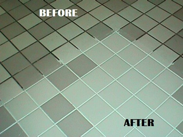 Clean Grout Lines Using Chemical Free Products